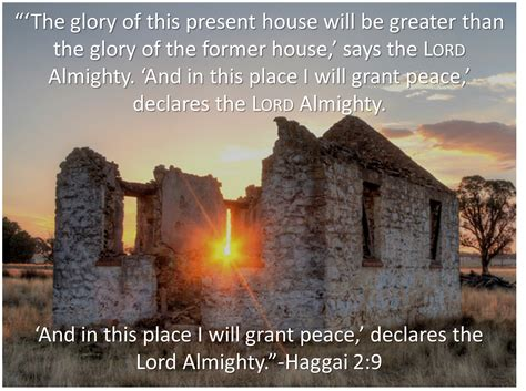 There Is In The House Of The Lord by Reflection On Haggai 2 1 9 New Narrabri