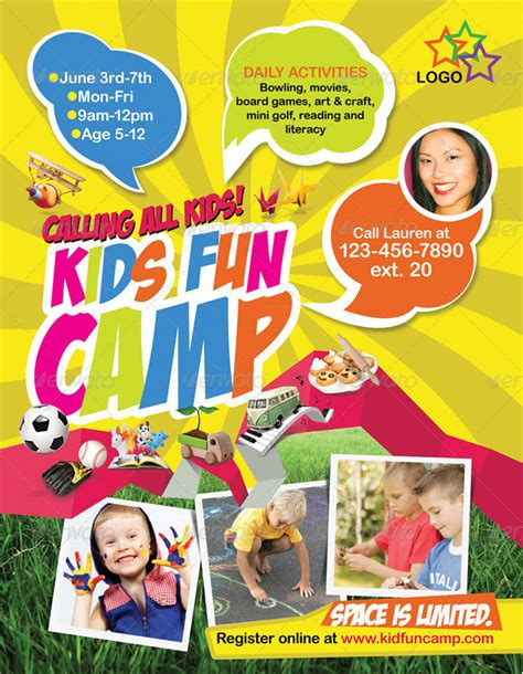 15 attractive kids print ready flyer templates