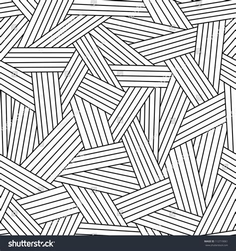 pattern black white simple vector seamless pattern interweaving thin lines stock
