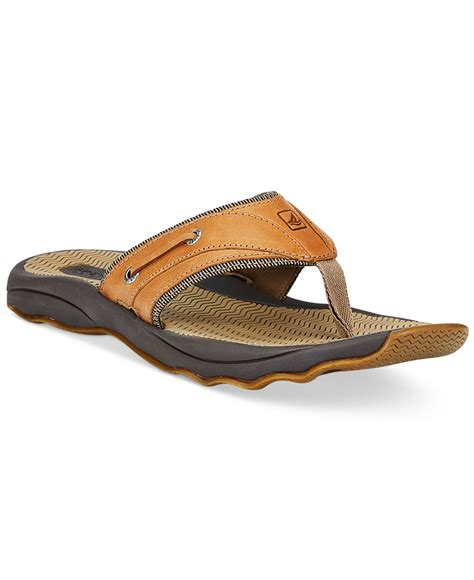 mens sperry sandals sperry top sider s outer banks sandals in brown for
