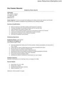 sample resume for cleaner