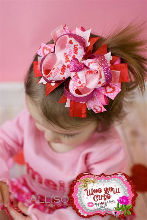 valentines hair bows s day hair bow if i had hair to spare