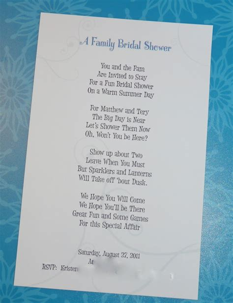 Wedding Card Rhymes by Writing A Bridal Shower Invitation Poem Celebrate Every