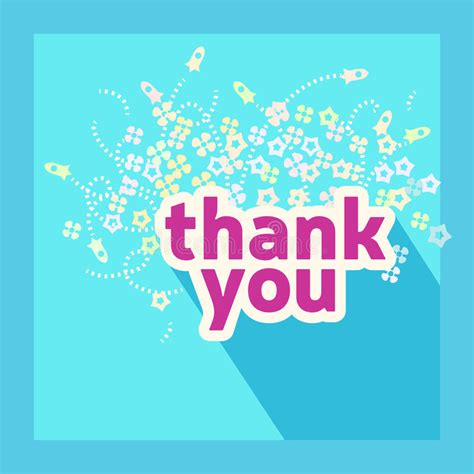 thank you card illustrator template thank you card design template stock vector illustration