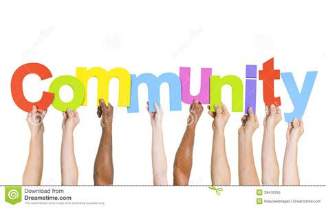 Foto Communitys Kostenlos by Multiethnic Holding Word Community Stock Image