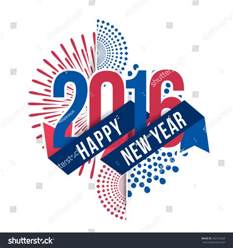 theme of new year 2016 vector illustration of fireworks happy new year 2016