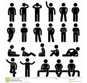 Man Basic Posture People Icon Sign Symbol Pictogra Stock Photo  Image