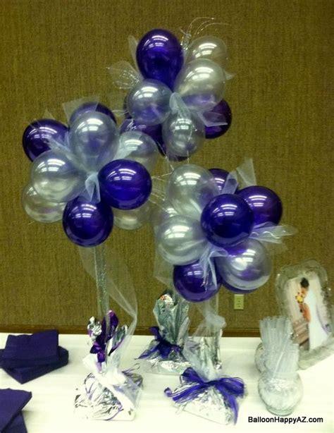 wedding centerpieces with silver purple violet
