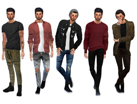 sims 4 male cc dopecherryblossomheart sims4bymia male lookbook