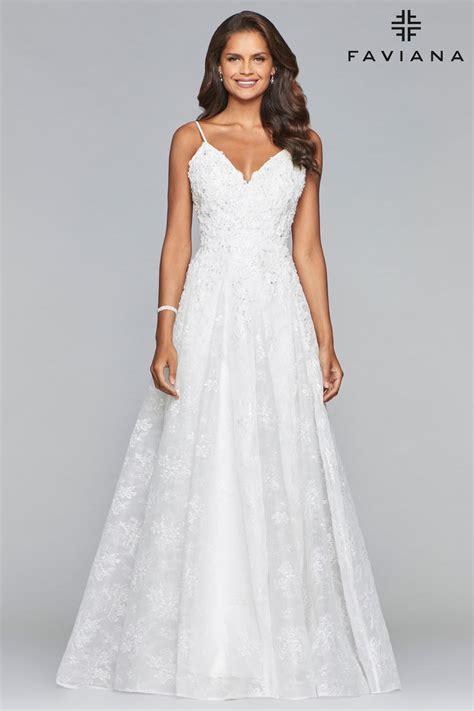 faviana  sweet lace prom dress french novelty