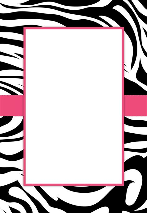 free printable zebra stripes invitation party invitation
