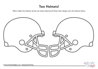 helmet design worksheet american football