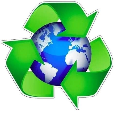 L Recycling by Recycle Logo Around The Earth Sticker Ebay