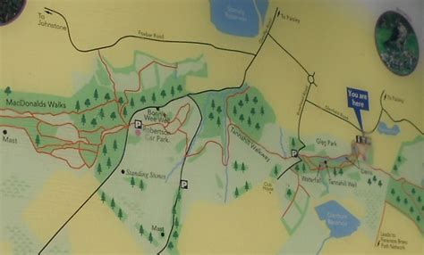 map of paisley photographs and map of glennifer braes country park above