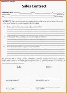Sales Contract Agreement Template by Sales Agreement Template Sales Contract Template Png