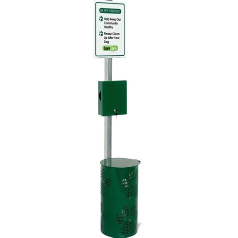 waste station shop ultra play 15 gallon commercial pet waste station with bag dispenser at lowes