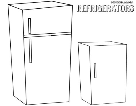 Coloring Page Of A by The Gallery For Gt Refrigerator Coloring Page