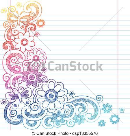 doodle definition francais vectors illustration of flowers sketch doodle border