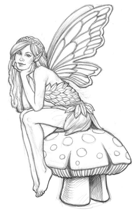fairy coloring pages on pinterest dover publications