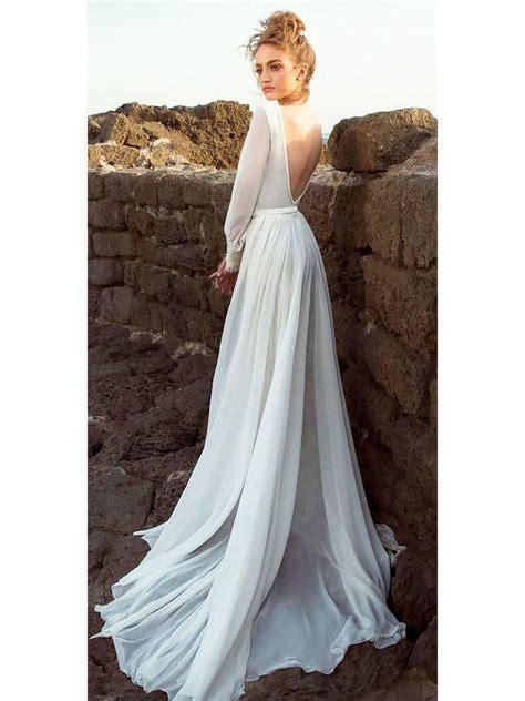simple beach wedding dresses  sleeve ivory