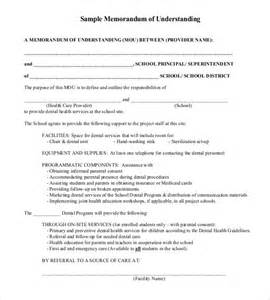 template for memorandum of understanding memorandum of understanding templates 30 free sle