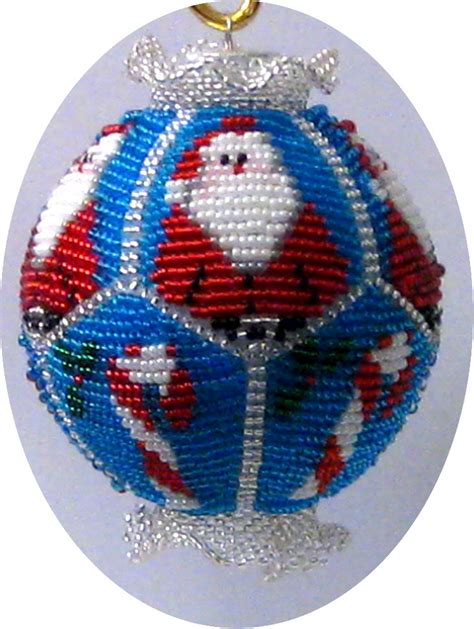 beaded christmas ornament pattern