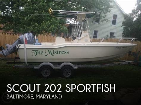 scout boats for sale in maryland sold scout 202 sportfish boat in baltimore md 122792
