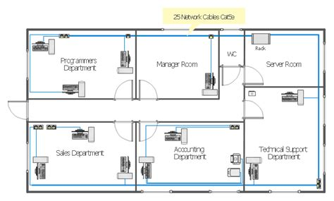 floor plan diagram network layout floor plans solution conceptdraw local area network lan computer and