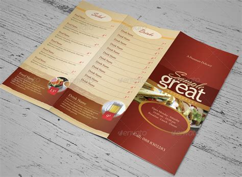 Togo Menu Templates restaurant cafe take out menu template by kinzi21