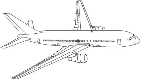 coloring page airplane outline drawn aircraft coloring page pencil and in color drawn