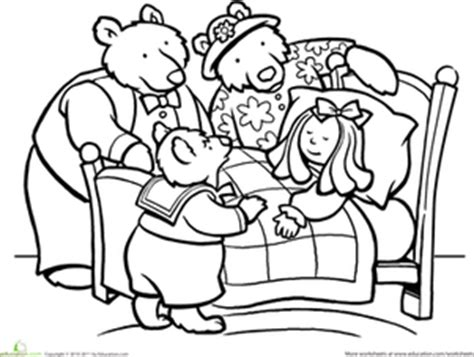 Color Goldilocks And The Three Bears Worksheet Goldilocks And The Three Bears Colouring Pages
