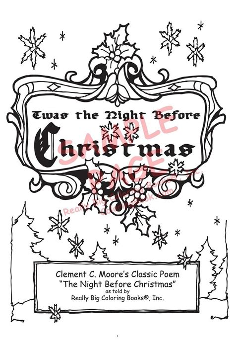 coloring pages for twas the night before thanksgiving twas the night before christmas printable coloring pages