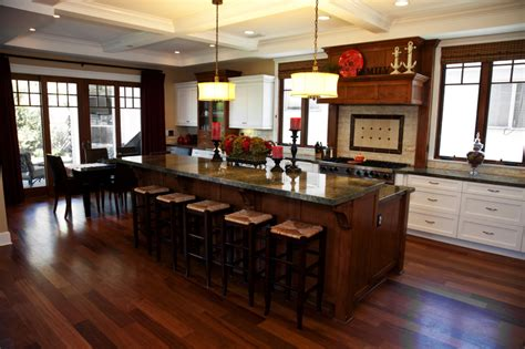 Stylish Kitchen With Two Tier Kitchen Island Homesfeed Two Tier Kitchen Island Designs