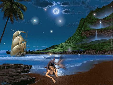 Mermaid Wall Mural dibujando en el viento imagenes con brillos mes de mayo