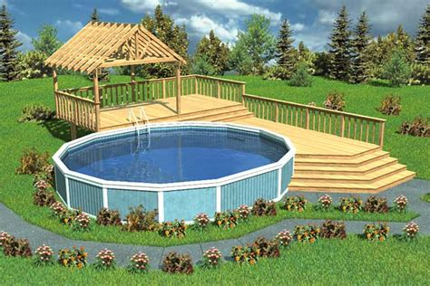 split level deck plans project plan 90005 luxury split level pool deck with trellis