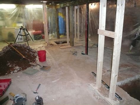 Basement Billiard Room in Progress