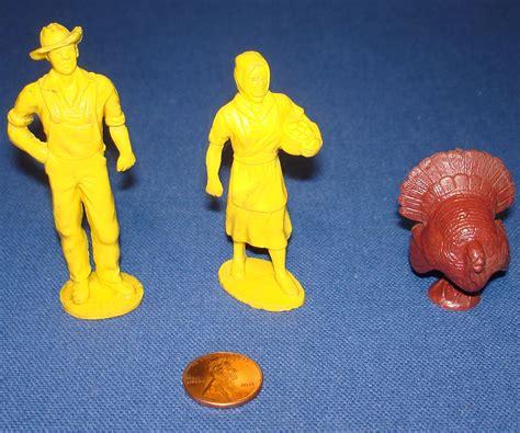 turkey rubber st vintage auburn rubber 65mm playset figures yellow farmer