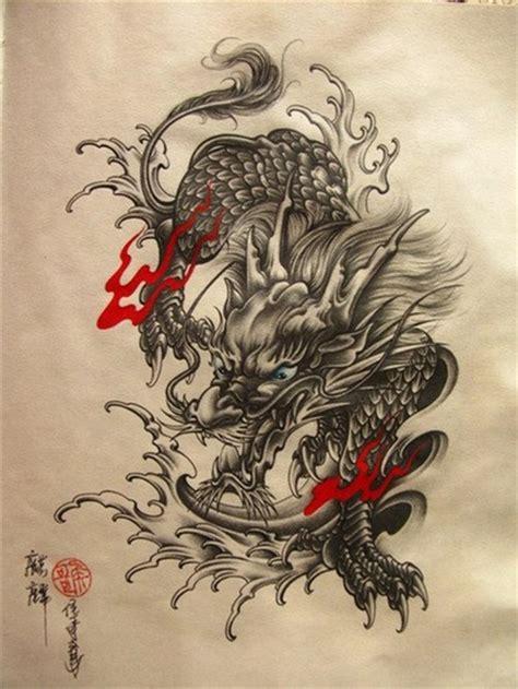 大气时尚的麒麟纹身手稿第2页