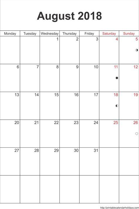 printable calendar august 2018 printable calendar august 2018 portrait journalingsage com