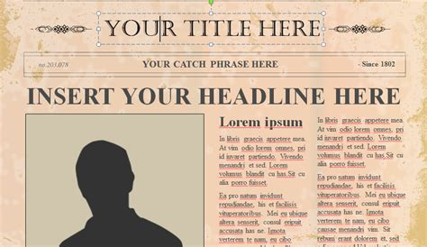 blank old newspaper template inspirational old paper background for