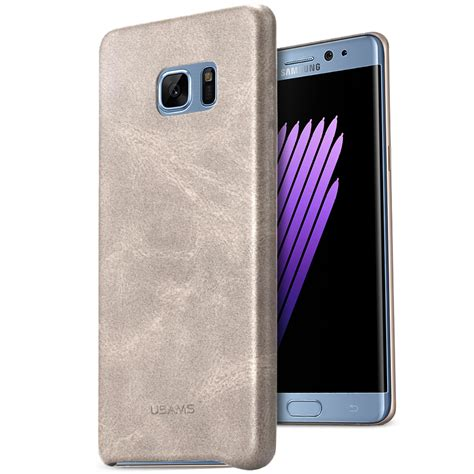 Leather Sliding Samsung Galaxy Note 4 Bumper Back Cover Casing Hp usams leather back samsung galaxy note 7 biege