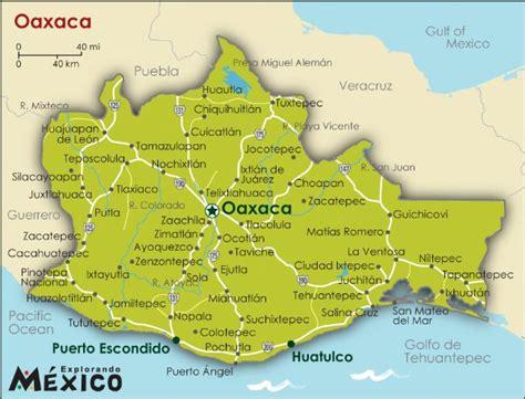 mapa de oaxaca mexico mapa de rios de oaxaca