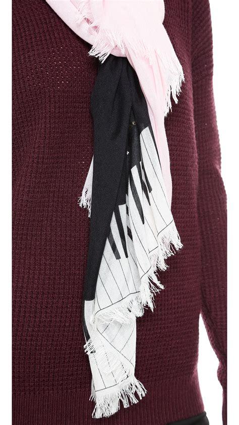 kate spade grand piano scarf sonata pink in pink sonata