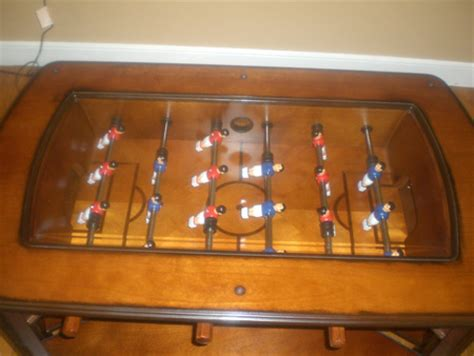 foosball table with glass top the foosball table disguised as a coffee table sideline