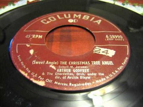 sweet angie the christmas tree angel arthur godfrey and