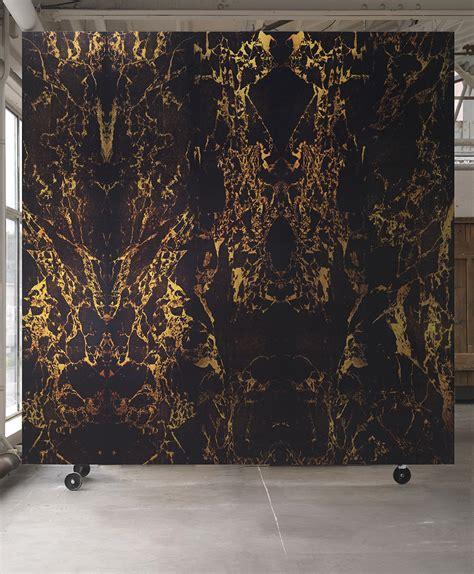 black metallic marble wallpaper von nlxl tapeten