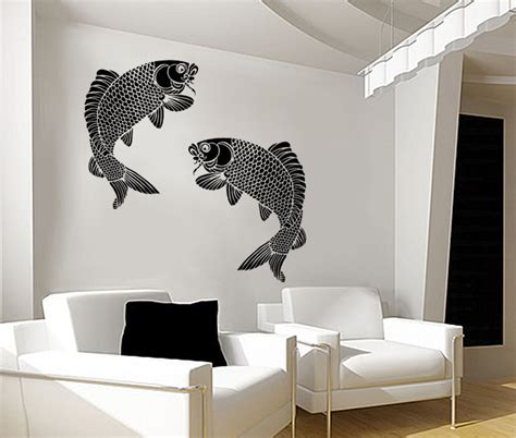 koi fish wall stencil fish large reusable stencil