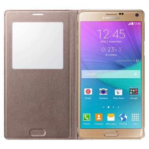 Flip Cover Kulit View Samsung Galaxy Note 4 N910 N 910 samsung galaxy note 4 s view flip glam gold