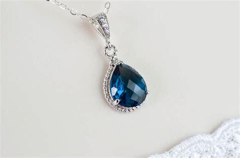 Blue Neckles blue sapphire necklace blue sapphire bridesmaids necklace