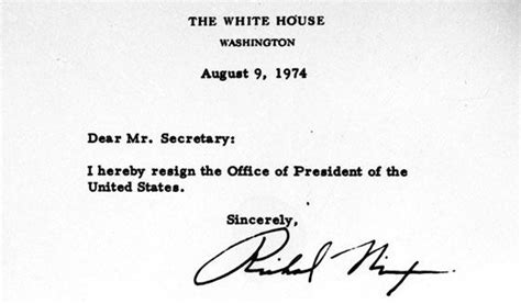 Richard Nixon Resignation Letter by Dashboard News Today In History President Richard Nixon